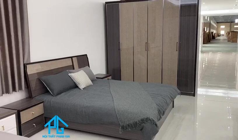 giường tủ bình dương gỗ công nghiệp mdf;
