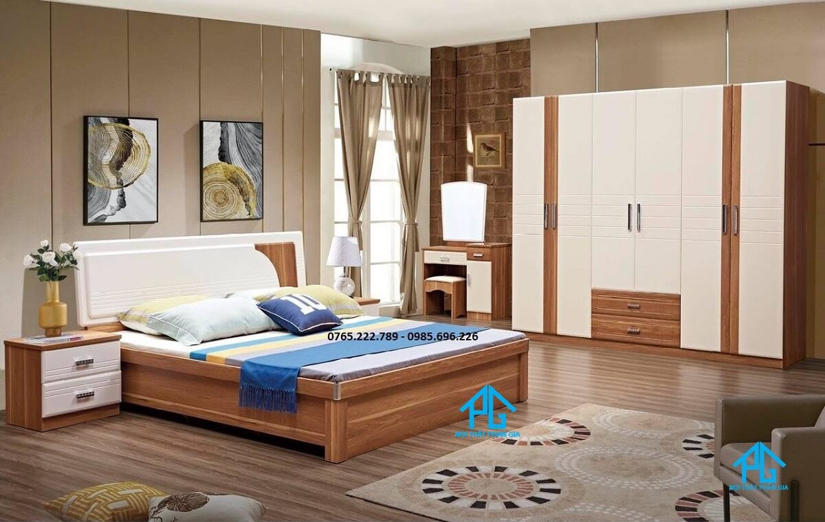 Nguyên Mộc giường tủ đa phong cách cao lãnh đồng tháp;