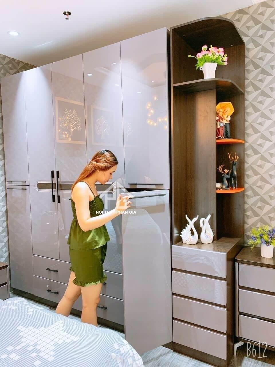 nội thất xinh giường tủ phòng ngủ hiện đại Đức Trọng;