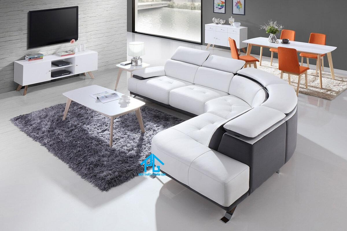 sofa da nhập khẩu ý cao cấp