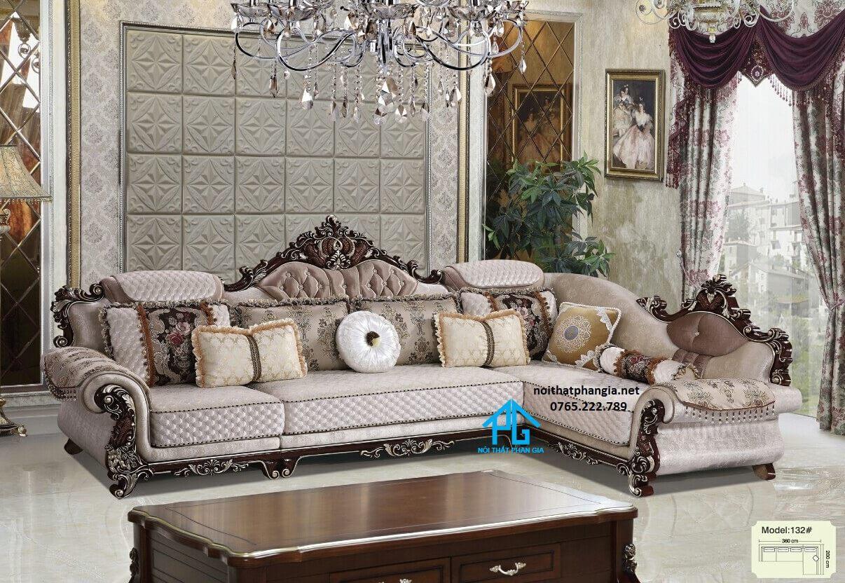 sofa góc L nhập khẩu malaysia