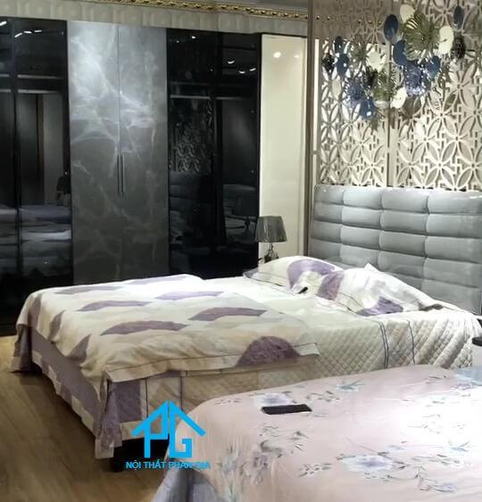 thanh tùng giường ngủ gỗ công nghiệp MDF chất lượng Tịnh Biên;