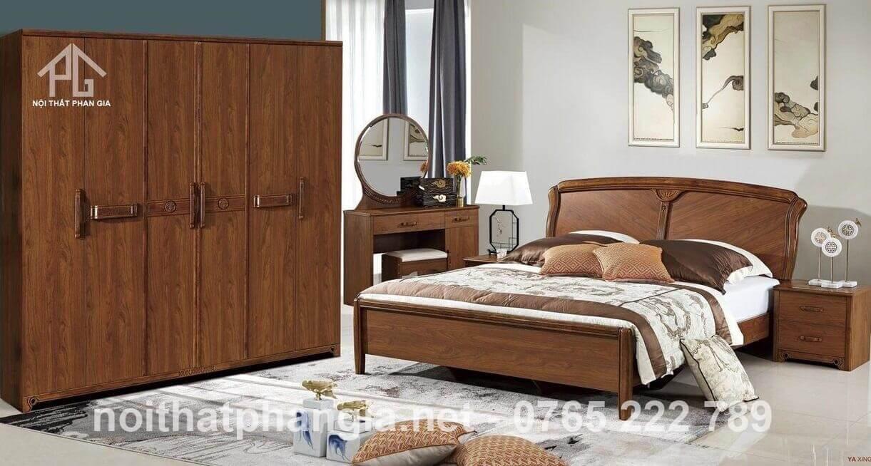 tủ quần áo gỗ tự nhiên ấn tượng