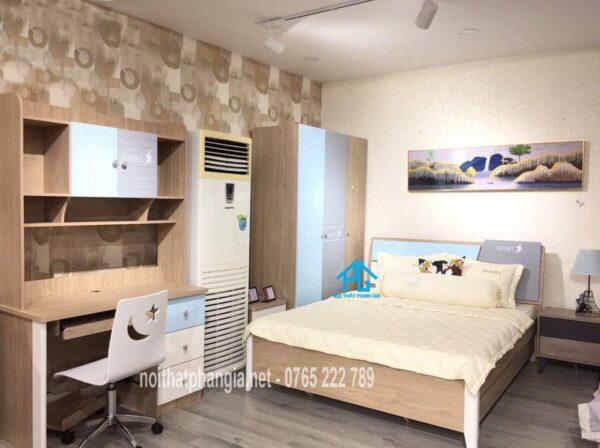 bộ giường tủ bé trai giá rẻ PG9902C