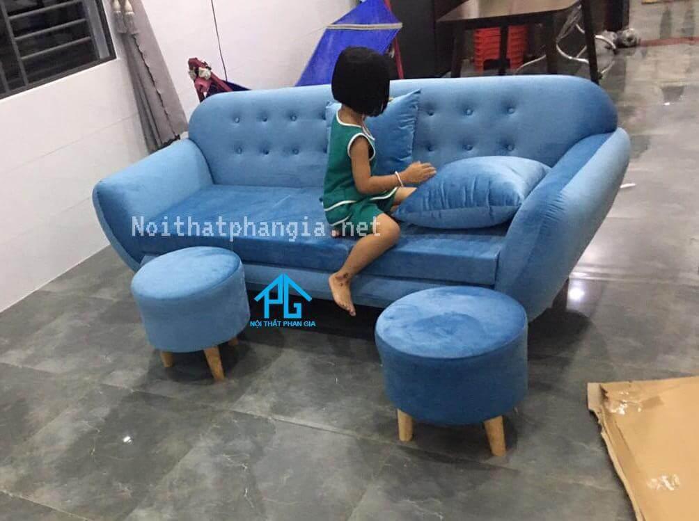 ghế đôn sofa thấp hình tròn