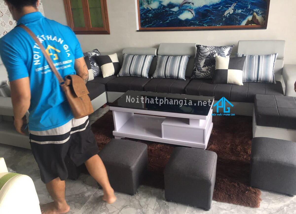 ghế đôn sofa vải cao cấp