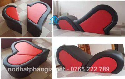 ghế sofa tình yêu ngụy trang trái tim