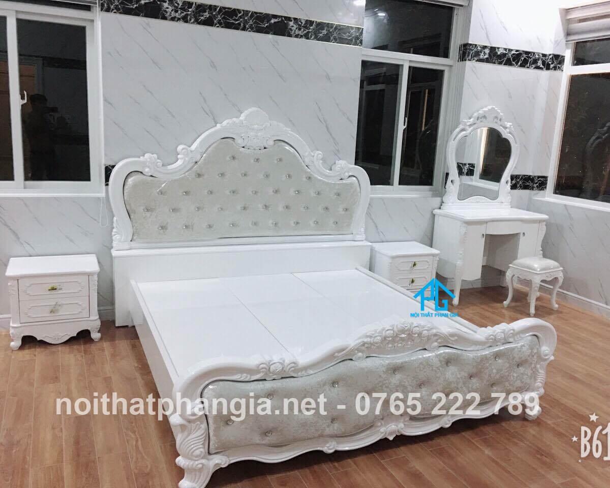 giường tủ phòng cưới tân cổ điển;