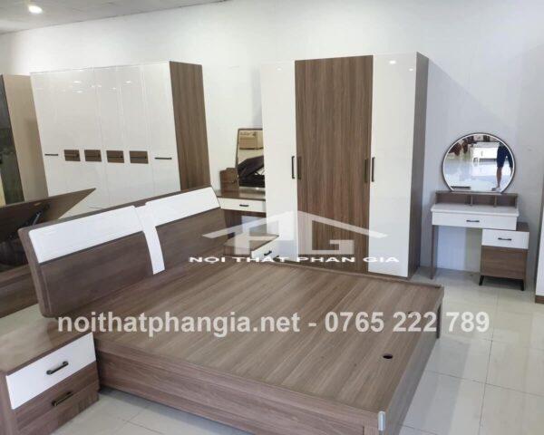 Giường tủ phòng ngủ gỗ công nghiệp 3625 – đẹp