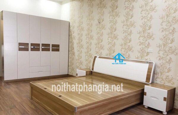 giường tủ phòng ngủ gỗ công nghiệp PG8586