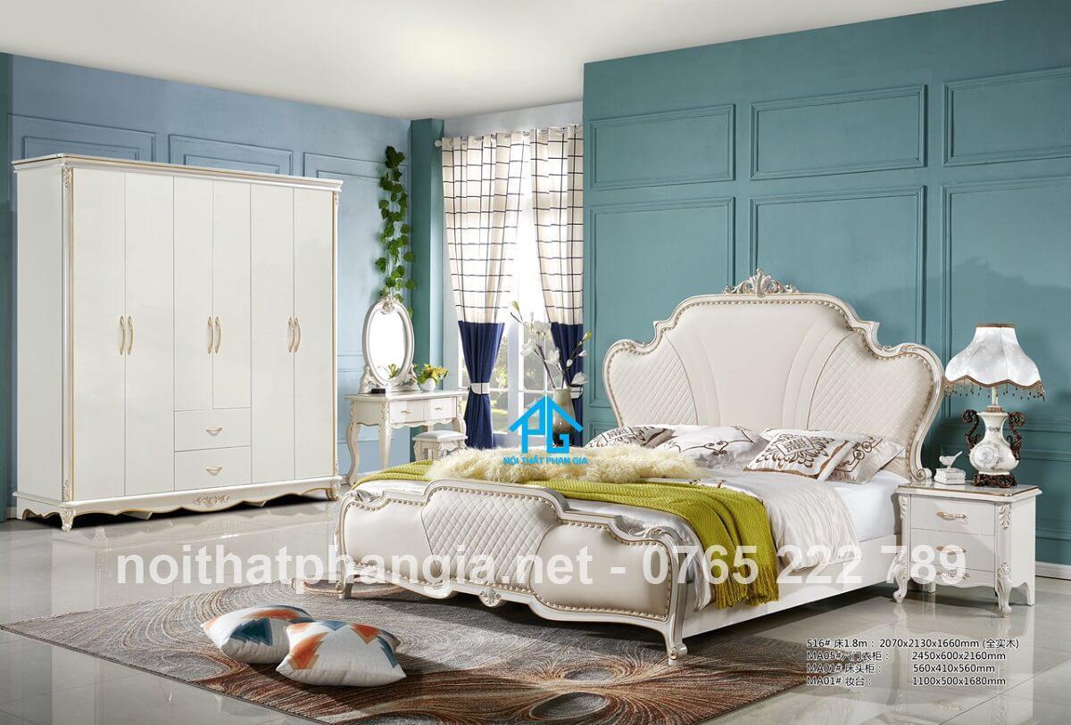 giường tủ tinh tế MA005 cao cấp