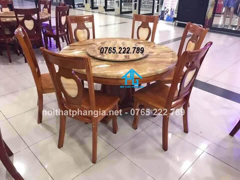 kích thước 6 ghế bàn ăn tròn