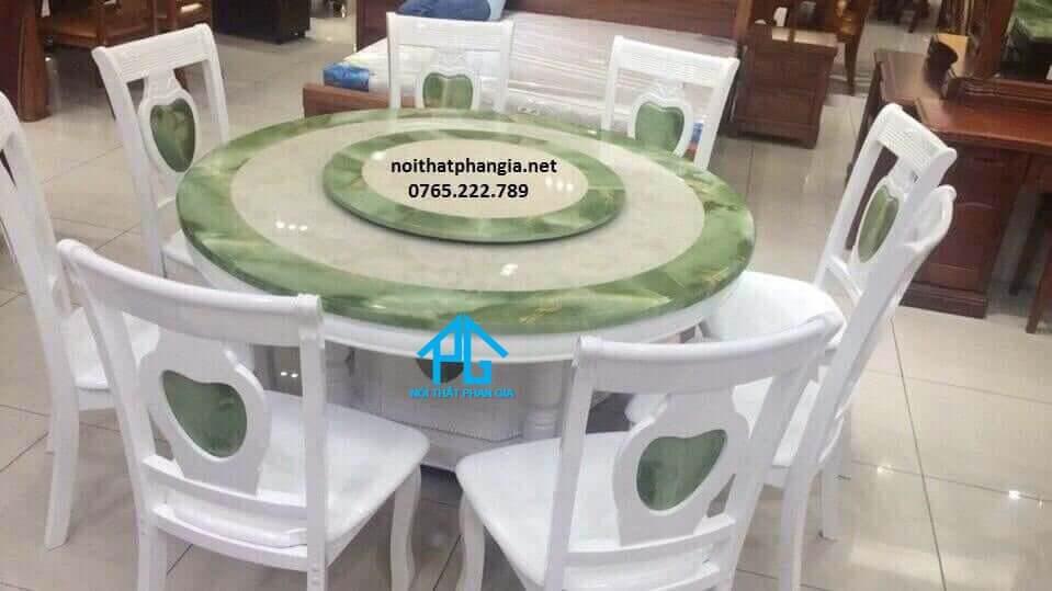 kích thước bàn ăn tròn 6 ghế