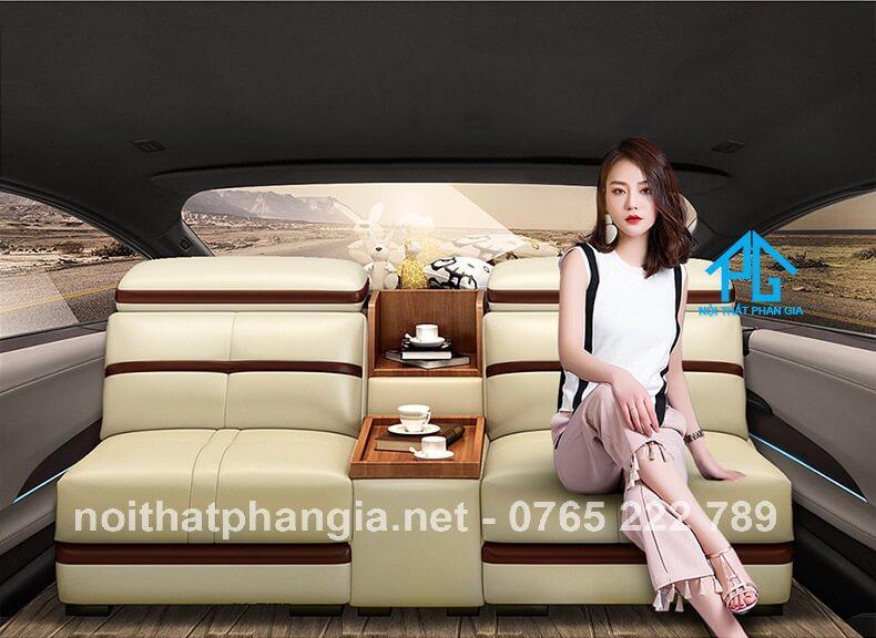 nội thất sofa da E226
