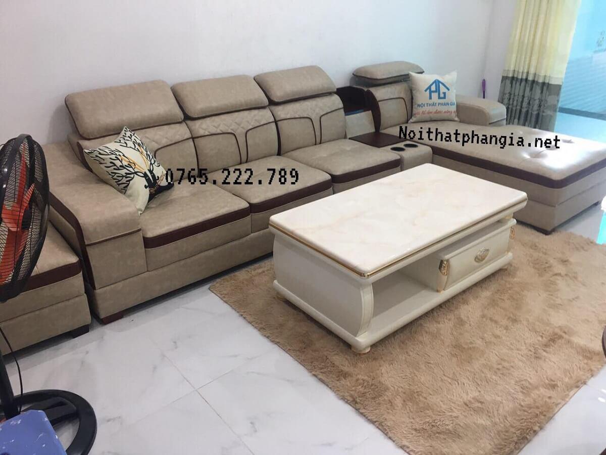 sofa da hiện đại chất lượng;