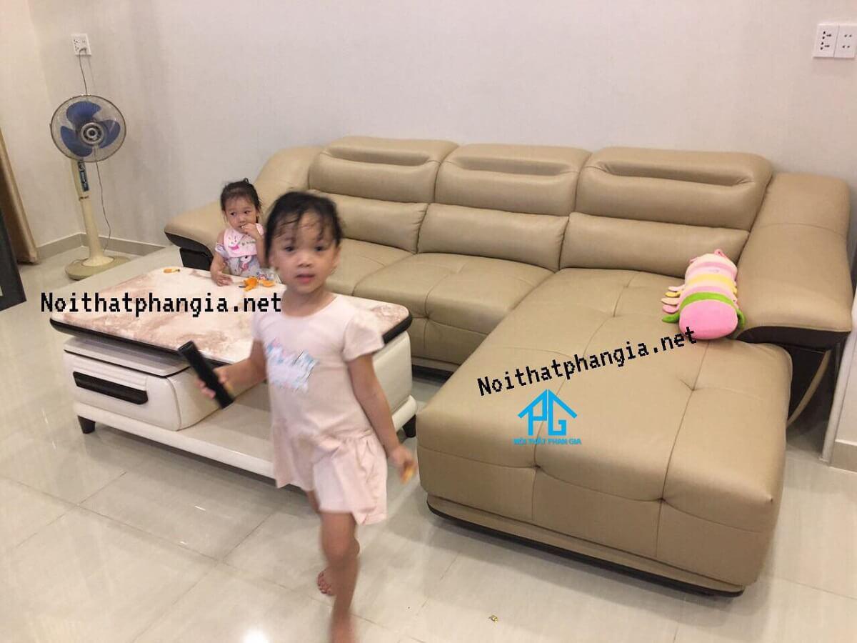 sofa da nhập khẩu nhật bản hiện đại;