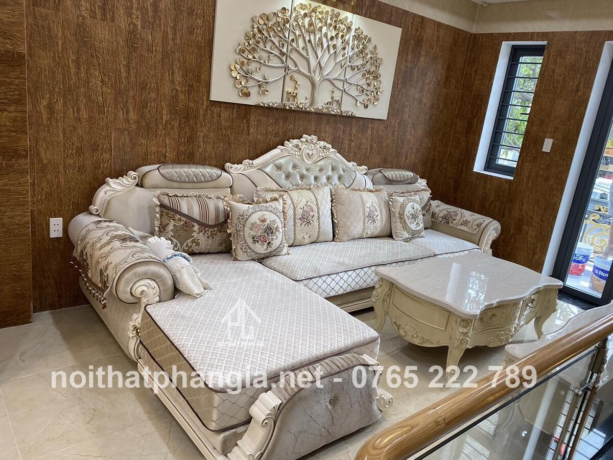 sofa vải khu vực sảnh đón tiếp