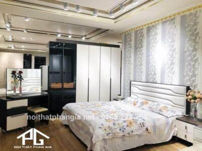 Trang trí nội thất Bình Phước - trọn bộ giường ngủ Hớn Quản