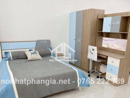 Trọn bộ giường tủ bé trai PG 9902C