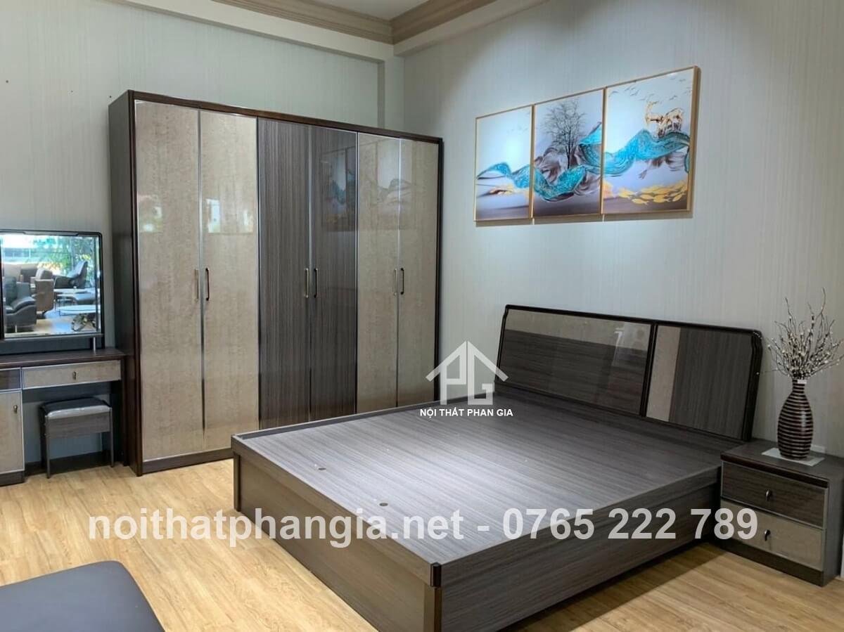 Đồ gỗ Mạnh Thắng - combo giường tủ gỗ tự nhiên Tân An