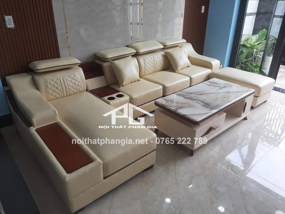 sofa da nhập khẩu giá rẻ;