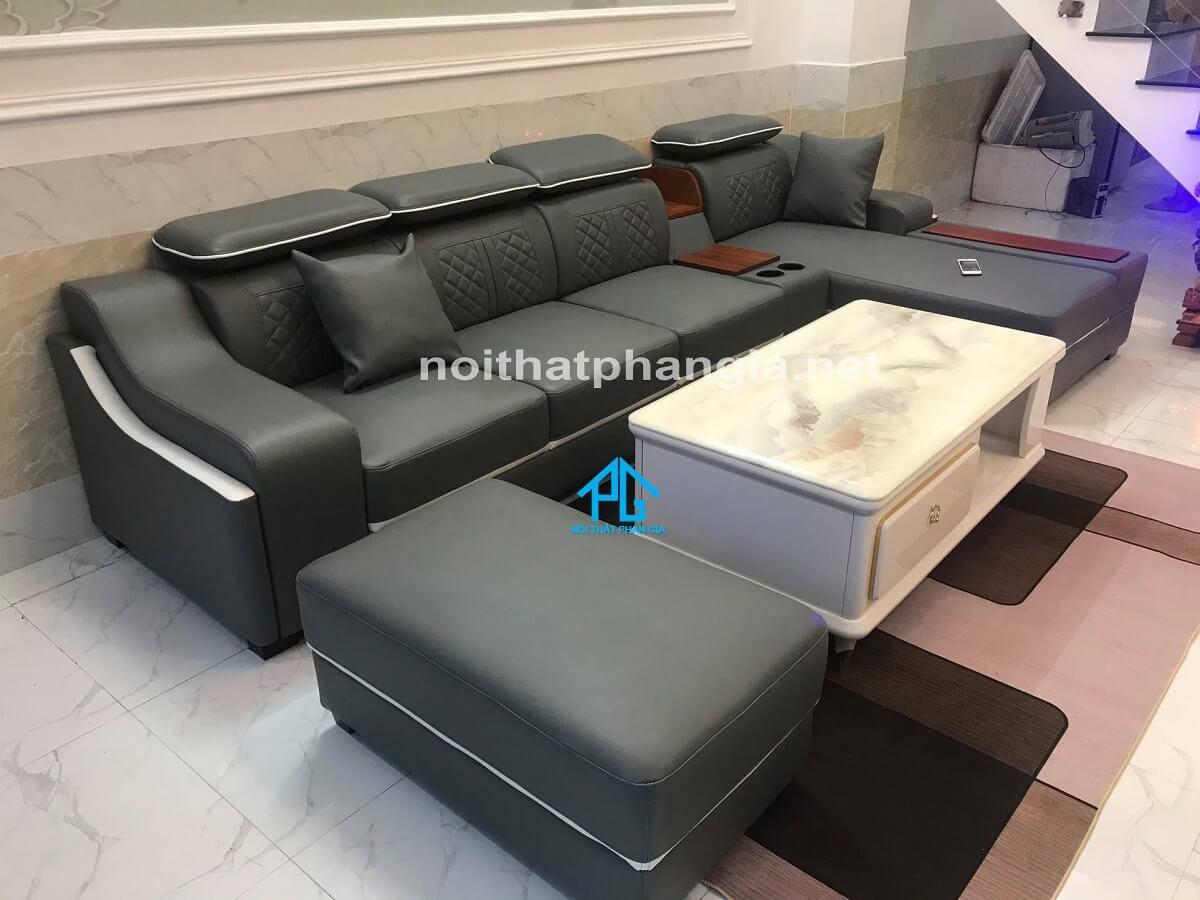sofa da nhập khẩu ý cao cấp;