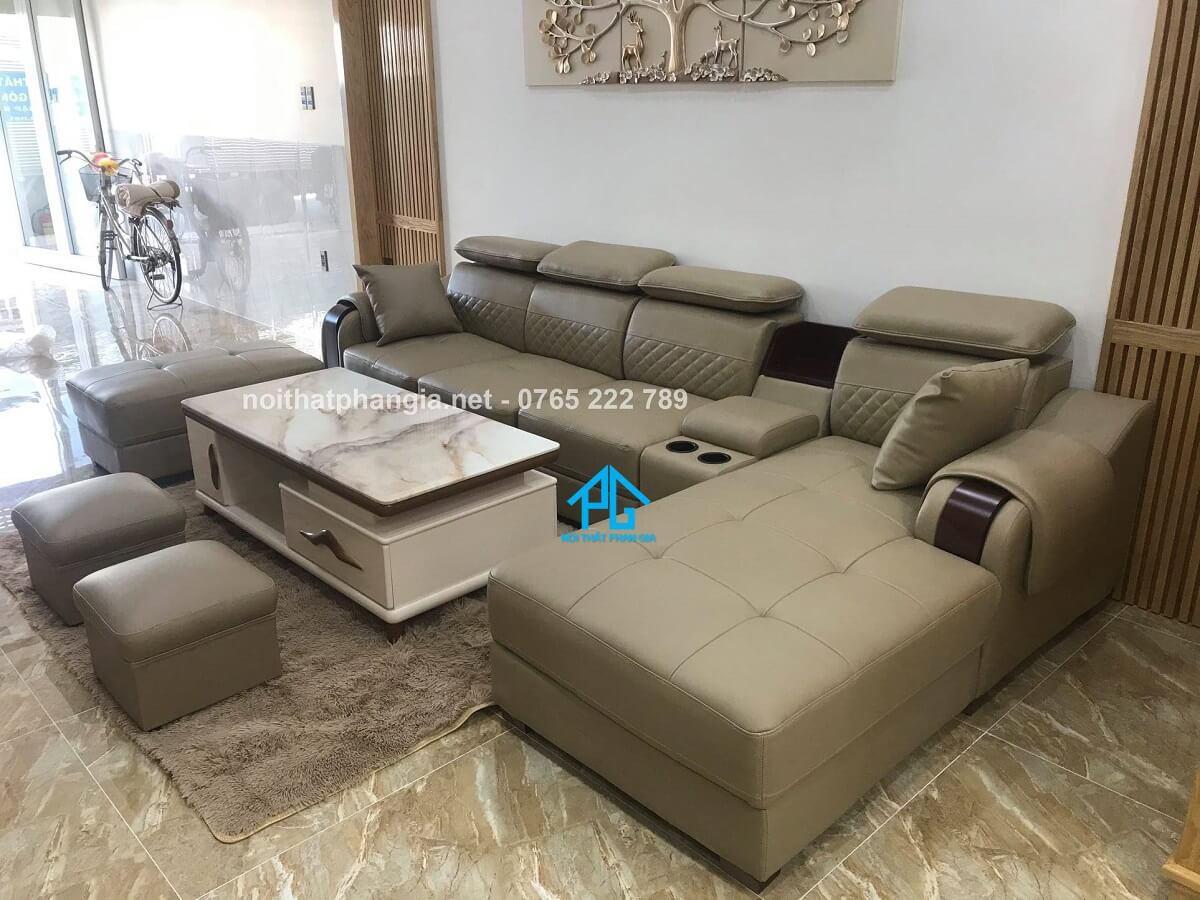 sofa da thật nhập khẩu trung quốc giá rẻ;