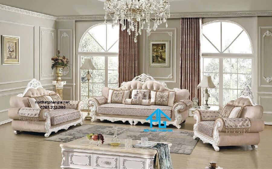 sofa đơn phòng khách tân cổ điển;