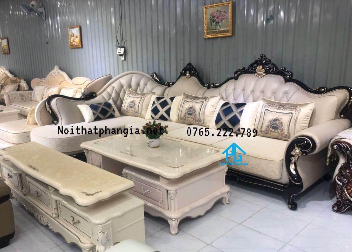 sofa phòng khách tân cổ điển;