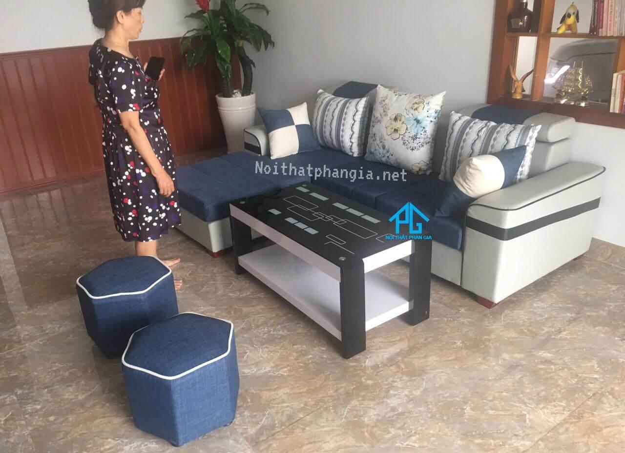 sofa vải nỉ cho phòng khách nhỏ