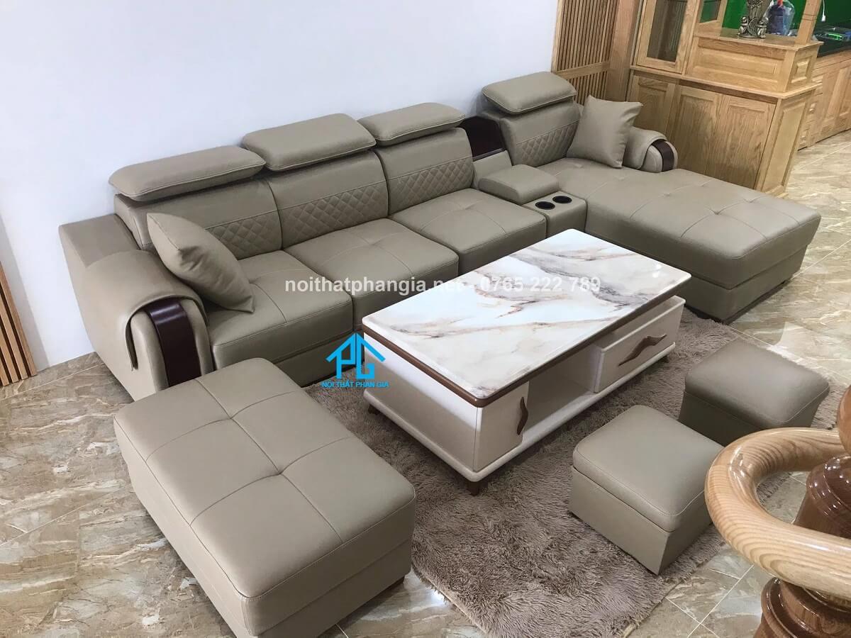 xu hướng lựa chọn sofa da hiện đại;