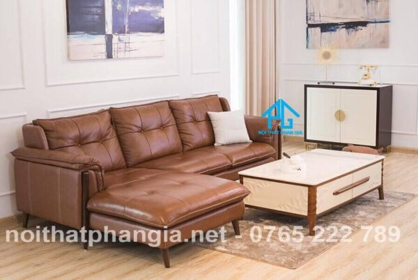 cách phối sofa màu da bò phù hợp
