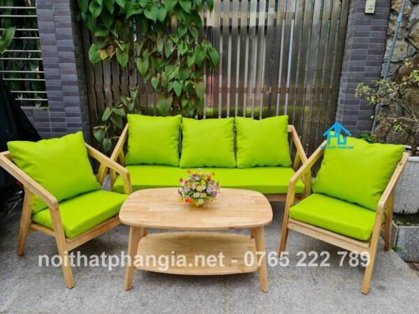 ghế sofa cafe đệm vải