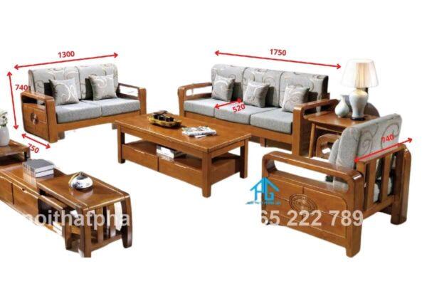 kích thước bộ ghế sofa gỗ
