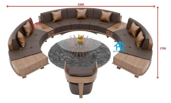 kích thước bộ ghế sofa tròn