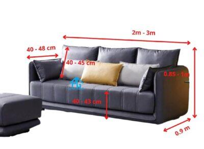 kích thước ghế sofa băng dài 3 chỗ