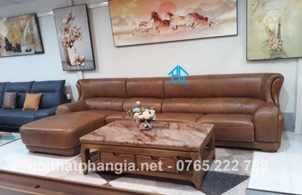 sofa cafe màu da bò