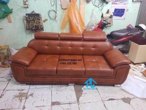 sofa màu da bò da công nghiệp
