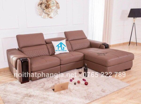 sofa màu da bò góc L