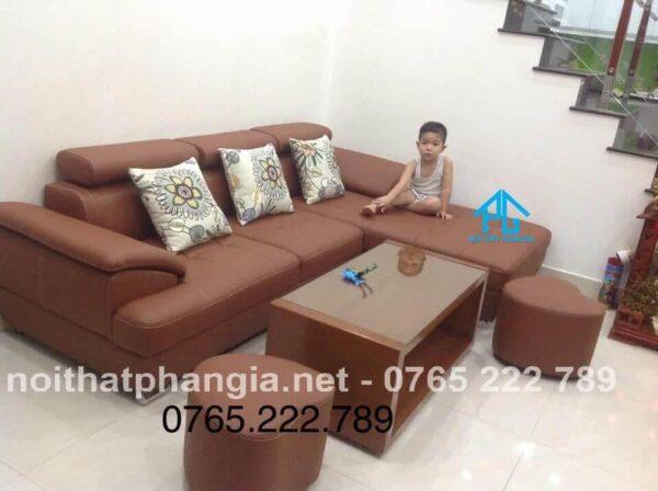 sofa màu da bò nhập khẩu