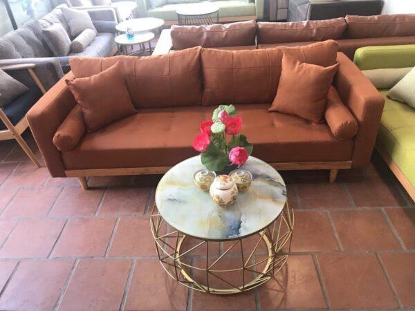 sofa vải màu da bò
