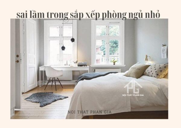 sai lầm sắp xếp nội thất phòng ngủ