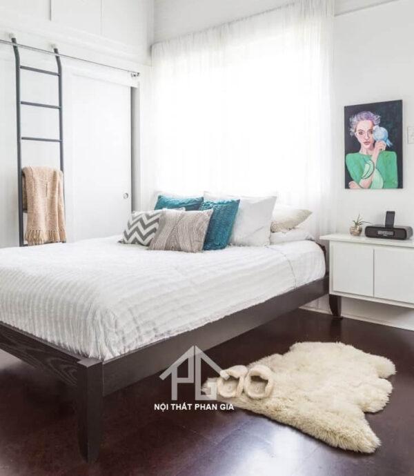 trải thảm trong phòng ngủ nhỏ