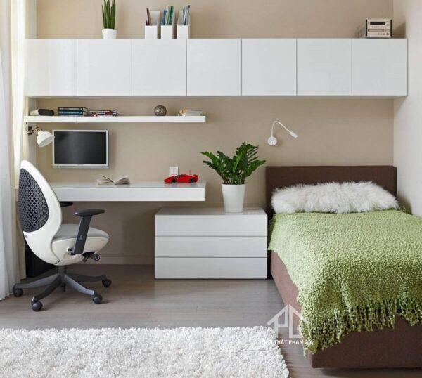 không gian lưu trữ cho phòng ngủ nhỏ