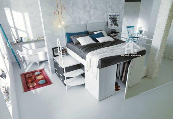 không gian chứa đồ bền dưới giường ngủ