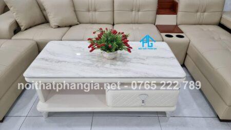 bàn trà mặt đá gỗ mdf bt250