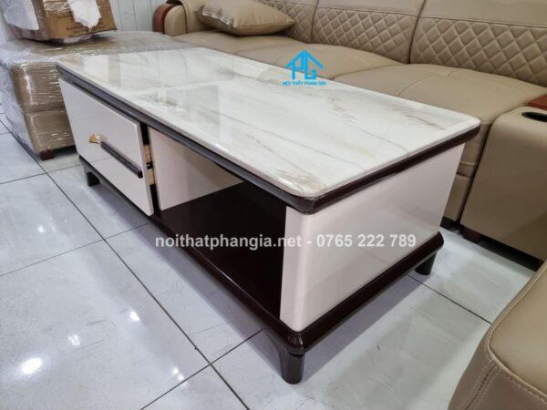 bàn trà nhập khẩu mặt đá bt251