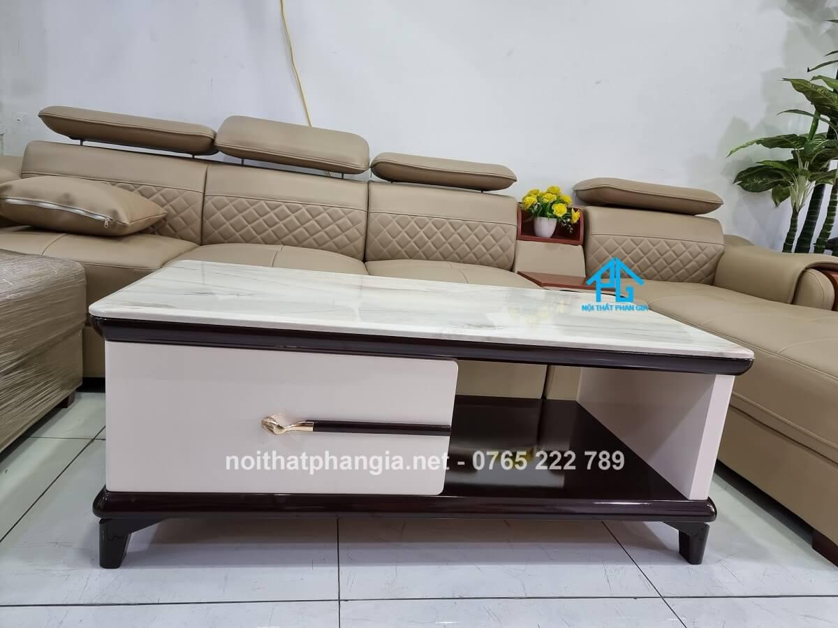 bàn trà sofa mặt đá bt251