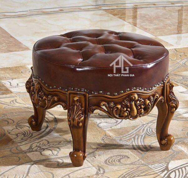 đôn sofa tròn cổ điển