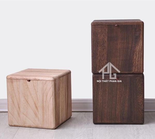 ghế đôn gỗ cao cấp cho phòng khách